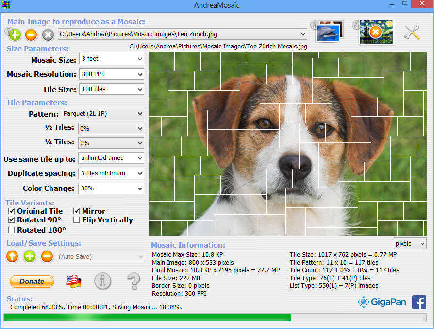 Viewing AndreaMosaic 3 37 for Windows - OlderGeeks com