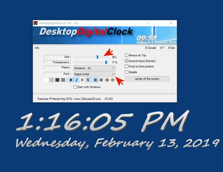 Viewing DesktopDigitalClock v1 36 32bit - OlderGeeks com
