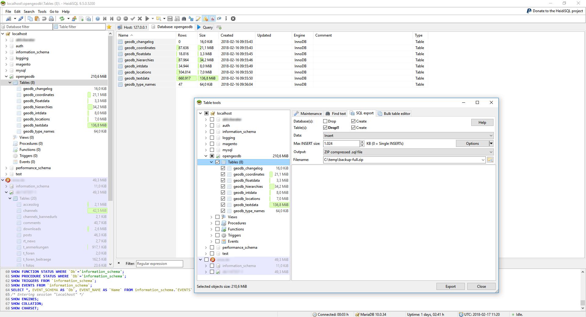 Viewing HeidiSQL v10 0 64bit - OlderGeeks com Freeware Downloads