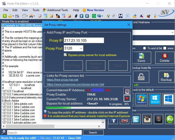 Viewing Hosts File Editor+ v 1 5 8 - OlderGeeks com Freeware