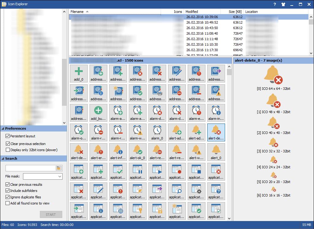 Viewing MiTeC Icon Explorer v5 1 0 - OlderGeeks com Freeware