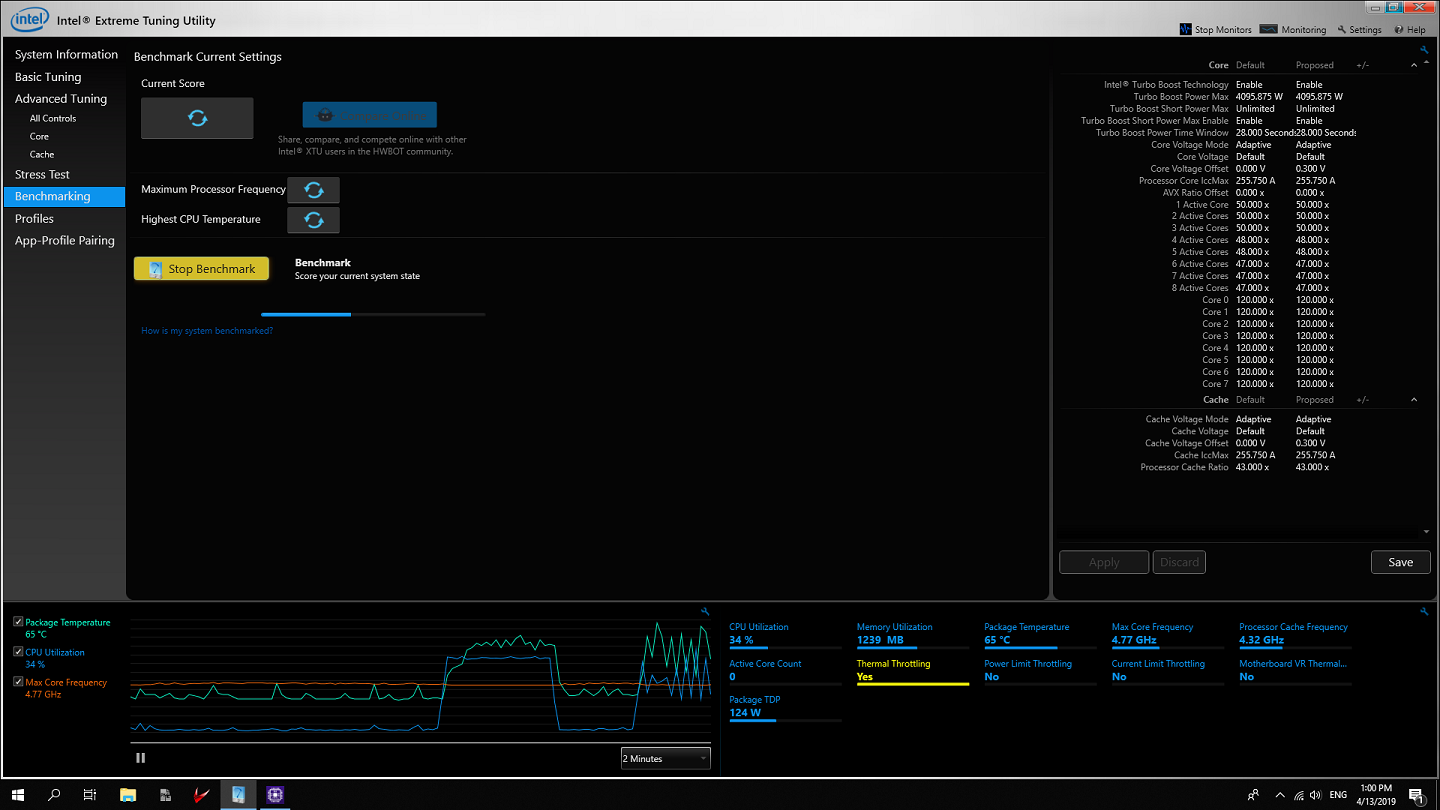 Viewing Intel Extreme Tuning Utility 5 1 2 2 - OlderGeeks com