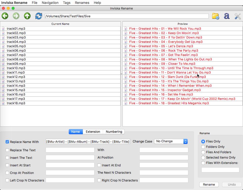 Viewing Inviska Rename v9 0 (MacOS) - OlderGeeks com