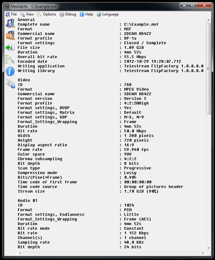 Viewing MediaInfo v19 04 - OlderGeeks com Freeware Downloads