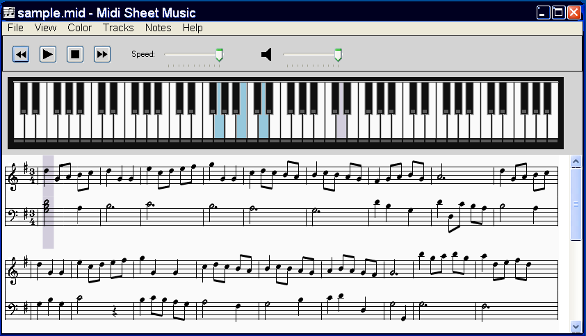 viewing midi sheet music for windows 2 6 freeware downloads. Black Bedroom Furniture Sets. Home Design Ideas