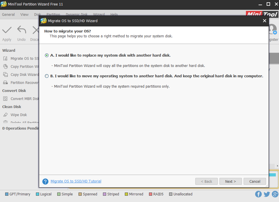 Viewing MiniTool Partition Wizard Free v11 0 - OlderGeeks