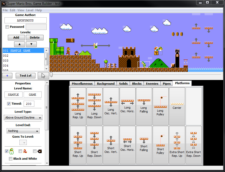 Viewing Super Mario Bros NES Game and Builder - OlderGeeks com
