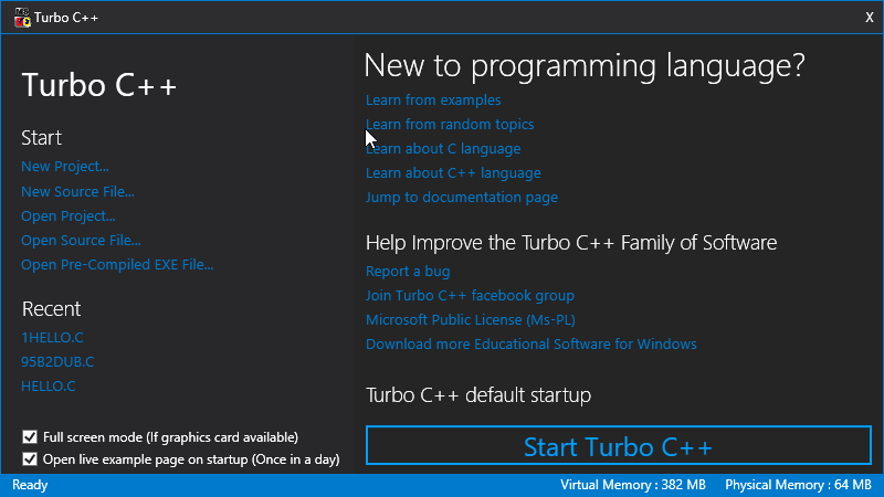 turbo c language software free download