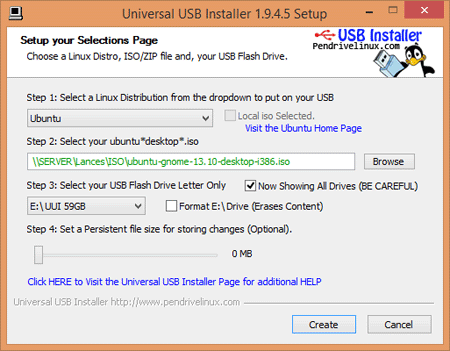 Viewing Universal USB Installer v1 9 8 8 - OlderGeeks com Freeware