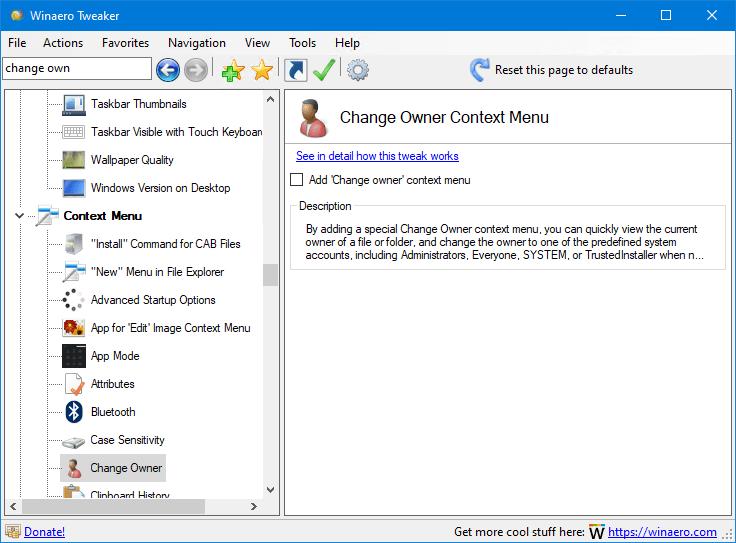 Viewing Winaero Tweaker 09 Oldergeekscom Freeware Downloads