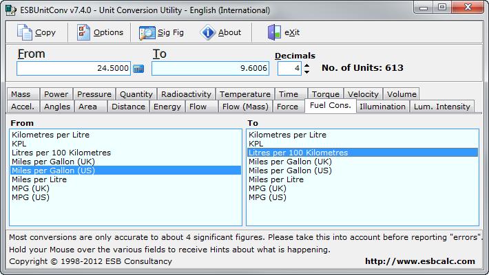Viewing ESBUnitConv v7 4 - OlderGeeks com Freeware Downloads