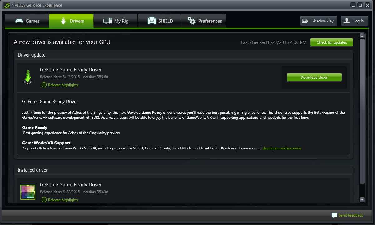 Viewing NVIDIA GeForce Experience v3 18 0 102 - OlderGeeks
