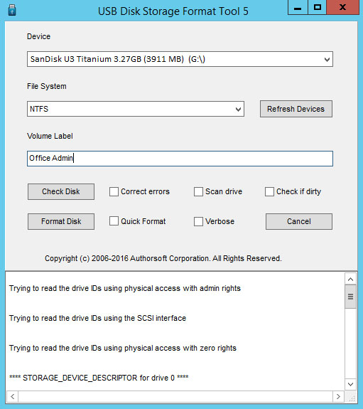 Hp usb disk storage format tool download.